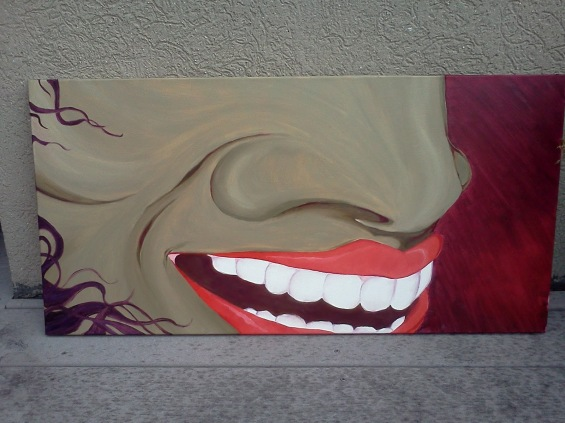"""laughter"", oil on canvas, 18""x24""."