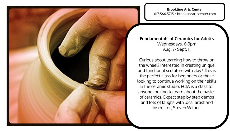Adult ceramic classes for Boston!