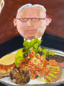 Acrylic painting  by Marietje Halberstma, adult course - winter term